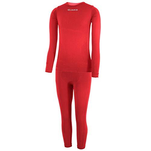 JAKO Kinder Kinderset Underwear Unterwäsche, Rot, 116/128