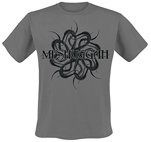 Meshuggah Spine Männer T-Shirt Charcoal L 100% Baumwolle Band-Merch,...